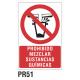 Cartel prohibido mezclar sustancias químicas
