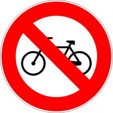 Cartel prohibido circular bicicletas