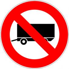 Cartel prohibido circular acoplado