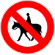 Cartel prohibido circular animal