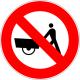 Cartel prohibido carro mano