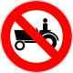 Cartel prohibido  tractor