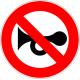 Cartel prohibido ruidos molestos