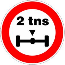 Cartel limitación de peso