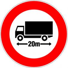 Cartel limitación del largo del vehículo