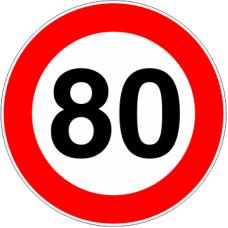 Cartel limitación de velocidad