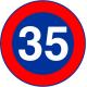 Cartel limitación de velocidad minima