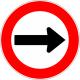 Cartel sentido de circulación