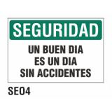 Cartel seguridad