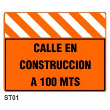 Cartel calle en construcción
