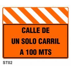 Cartel calle de un solo carril