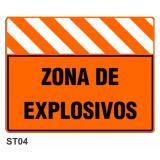 Cartel zona de explosivos