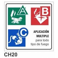 Etiqueta chapa baliza ABC