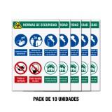 Carteles prevención  Coronavirus Covid 19 - Pack 10  Gr