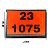 Rótulo de carga peligrosa + Porta rótulo 22 x 35 cm.