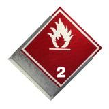 Rótulo de carga peligrosa + Porta rótulo 25 x 25 cm.