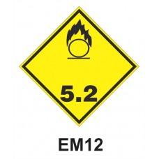 Rótulo de riesgo clase 5.2