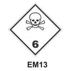 Rótulo de riesgo clase 6.1