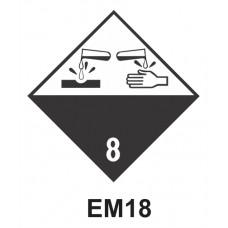 Rótulo de riesgo clase 8