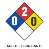 Cartel NFPA aceite / lubricante