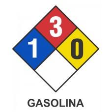 Cartel NFPA gasolina