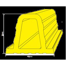 Tope de estacionamiento 110 x 90 mm
