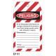 Cartel etiqueta peligro