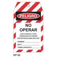 Cartel no operar