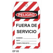 Cartel fuera de servicio