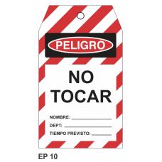Cartel no tocar