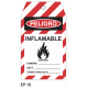 Cartel inflamable
