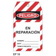 Cartel en reparación