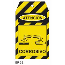 Cartel corrosivo